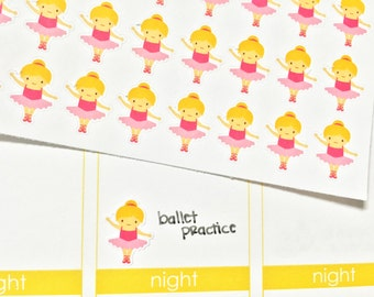 30 Blonde Ballerina / Dance Stickers! Perfect for your Erin Condren Life Planner, Filofax, Plum Paper & other planner or scrapbooking!