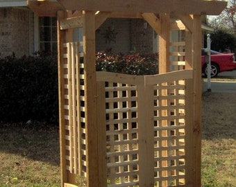 Brand New Deluxe Classic Cedar Garden Arbor with Gate - Free Shipping