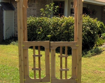 Brand New Japanese Style Cedar Garden Arbor with Gate - Free Shipping