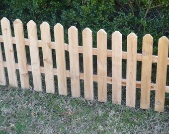 Brand New 24 Foot Cedar Wood Fence, Decorative Garden Fencing nearly 3 feet tall.