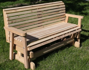 Brand New 5 Foot Cedar Wood Classic Outdoor Glider - Free Shipping