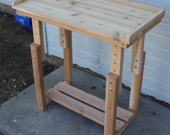 Brand New 3 Foot Child's Potting Bench with Adjustable Height - Free Shipping