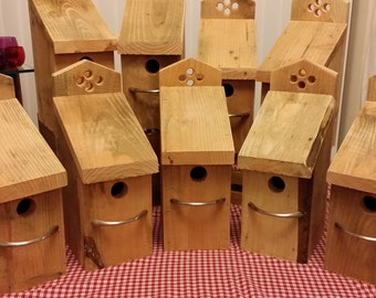 Douglas Fir timber Wren Bird House.