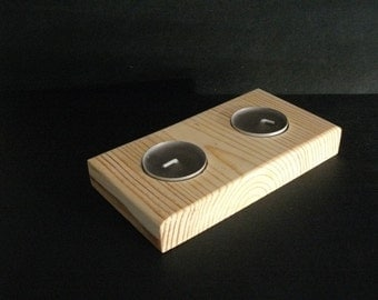 Sconce in natural pine wood