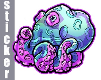 Blue Octopus Sticker