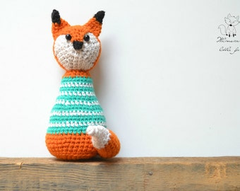 Crochet fox amigurumi pattern, crochet toy pattern, crochet fox pattern, Freddy the fox, pattern no.1