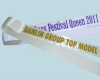 8 Custom Sashes for your pageant - all alike - Free shipping!