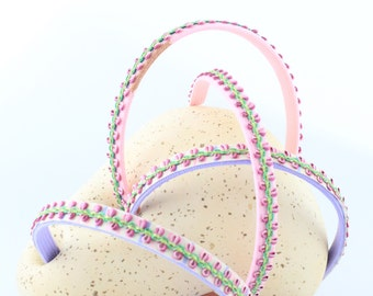 Ready for Spring! Pink and Purple Trellis Headband