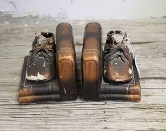 Baby Bootie Bookends