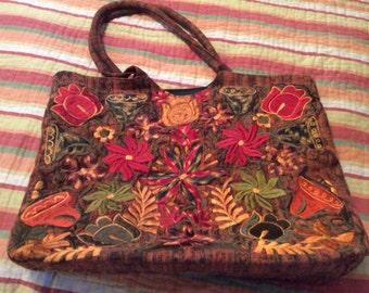 Bohemian Vintage Embroidered Bag