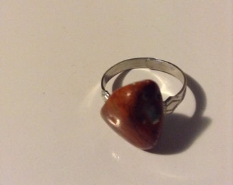 Agate 'Chunky' Adjustable Ring
