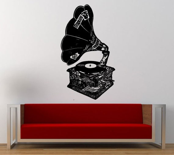 Decal Trend : Vintage Gramophone Decal