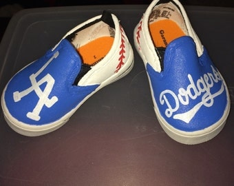 LA Dodgers hand painted tennis shoes