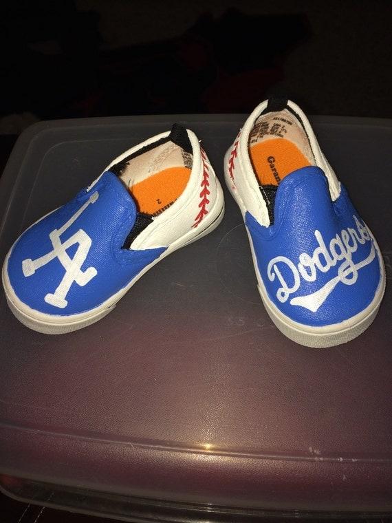 la dodgers painted tennis shoes