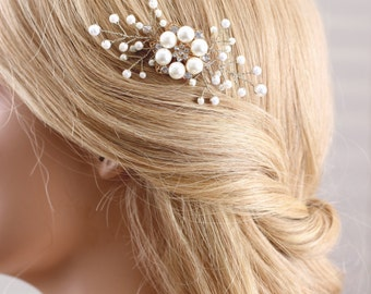bridal pearl hairpiece, bridal pearl pin, wedding hair accessories, wedding hairpiece, bridal hair pin , pearl hair clip, peal hair pin