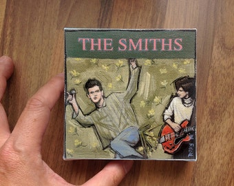Mini painting /  Morrissey / The Smiths #5  / 10 X 10 cm / Original painting printed on canvas