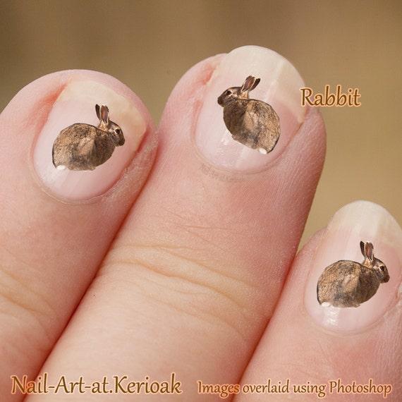 Bunny rabbit wild animal nail art stickers rabbit nail art nail bunny rabbit wild animal nail art stickers rabbit nail art nail decals rabbit decal bunny stickers bunny decal fingernail art from kerioak on etsy prinsesfo Image collections