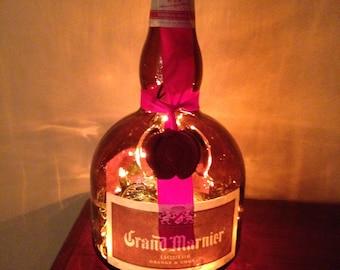 Grand Marnier Liqueur lighted bottle