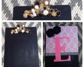 Monogrammed Clipboards