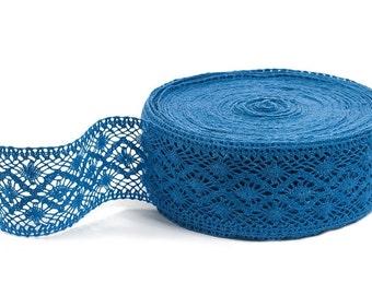 BLUE Linen Lace - Linen Lace Trim