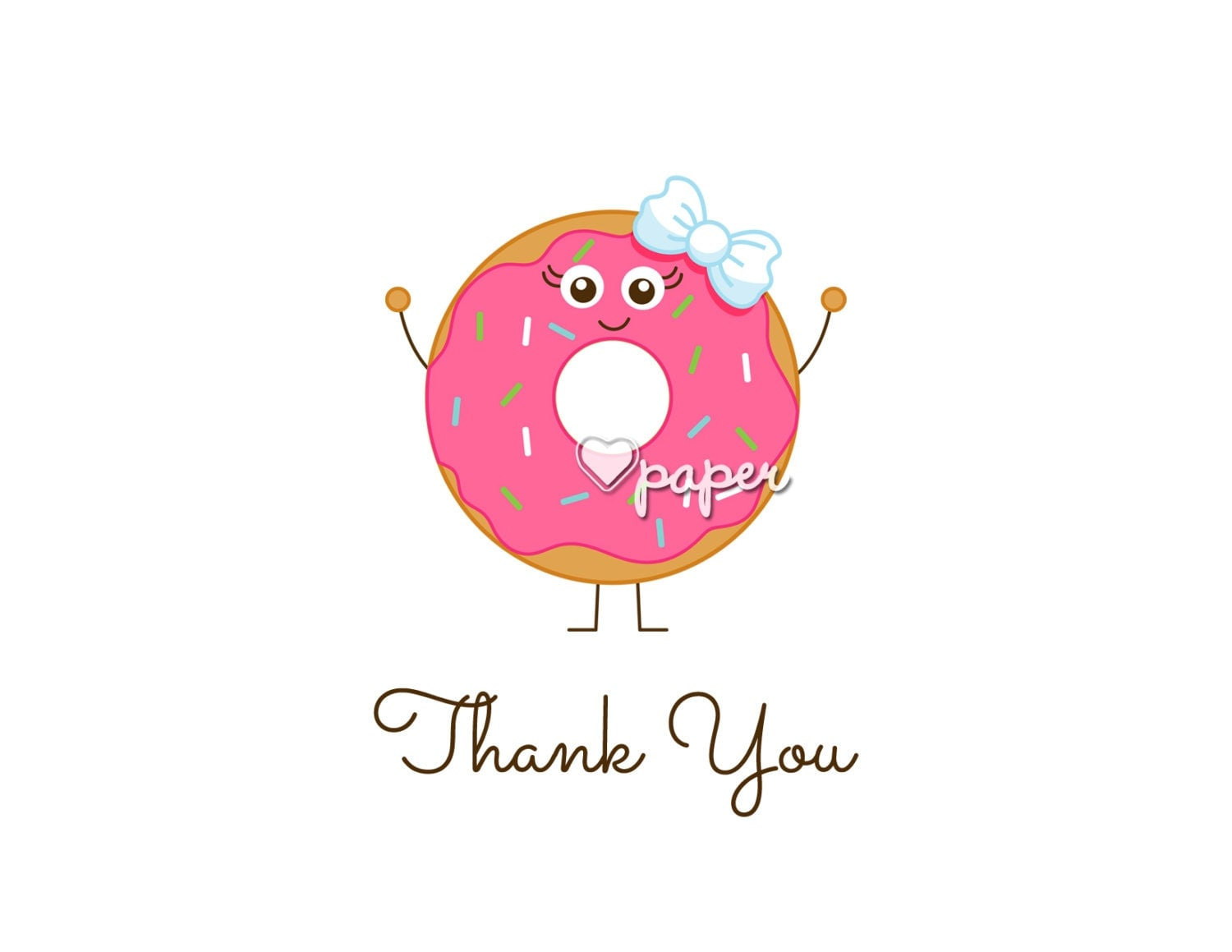 donut thank you cards | just b.CAUSE