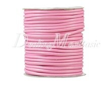 1 Roll/40m Light Pink Polyester Cord Wire Thread String Jewelry Making 3x3mm New  TC0115-2