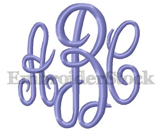 "Embroidery Fonts Mastercircle Monogram Font Machine Embroidery Monogram Design - 2"" and 3"""