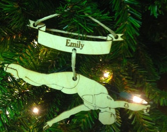 Diving 1 Personalized Christmas Ornament