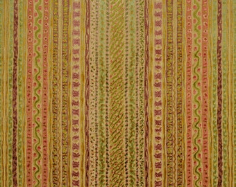 CLARENCE HOUSE MONTAGUE Belgium Velvet Fabric 5 Yards Apricot Multi