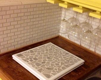 Granite Tile Mosaic Hot plate