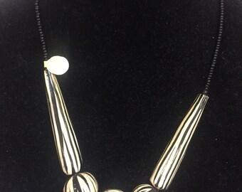 Keyan African Zebra Necklace