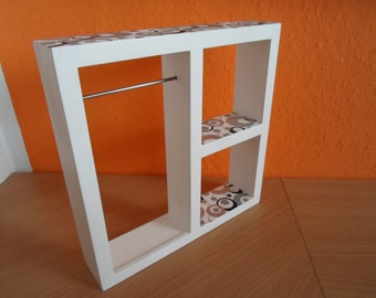 Display rack with pattern for dolls / clothes racks for Barbie and other dolls BJD white Doll