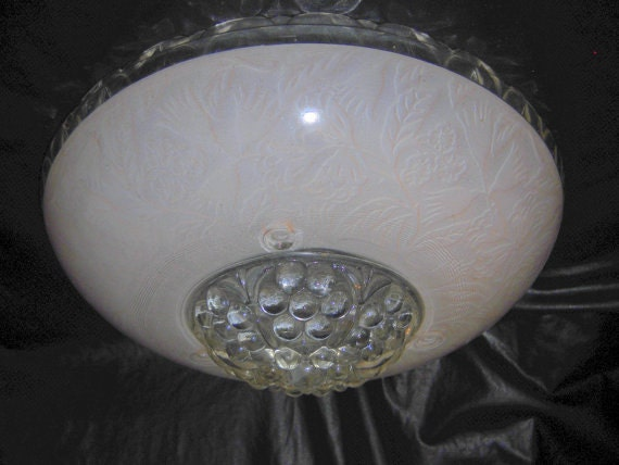 Hanging Glass Light Fixture Cover Ceiling By Nightwingsattic