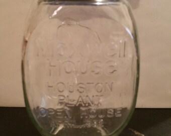 Maxwell House Coffee Houston Plant 1982 Jar