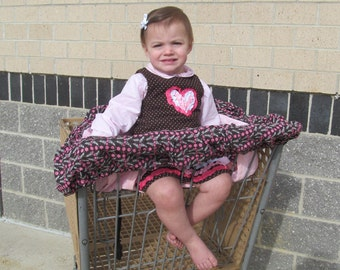 Handmade Shopping Cart Cover, keeps baby away from germs, even fits Target Carts!