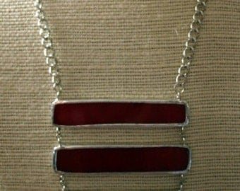Red Stained Glass Necklace