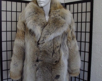Brand new natural coyote fur jacket coat for men man size all custom made