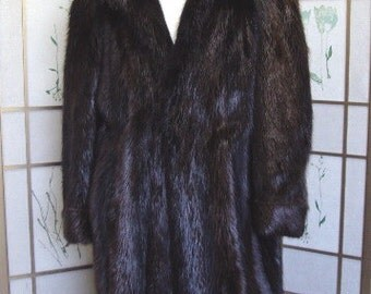 Brand new brown long haired beaver fur coat w/hood for men man size all custom made