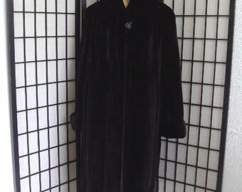 Brand new Canadian black female mink fur coat for women woman size all custom made