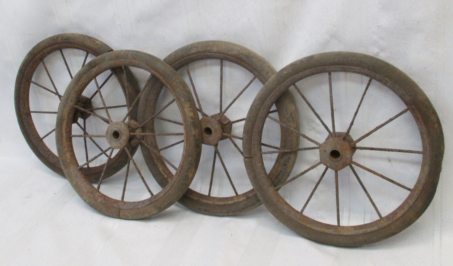 4 Vintage Baby Buggy Wire Wheels Pedal Car By Theoldgrainery