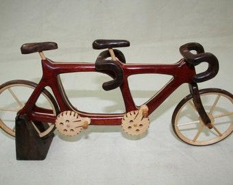 Wood Tandem Bicycle wood toys