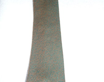 1960s Green and Brown Mottled Tie