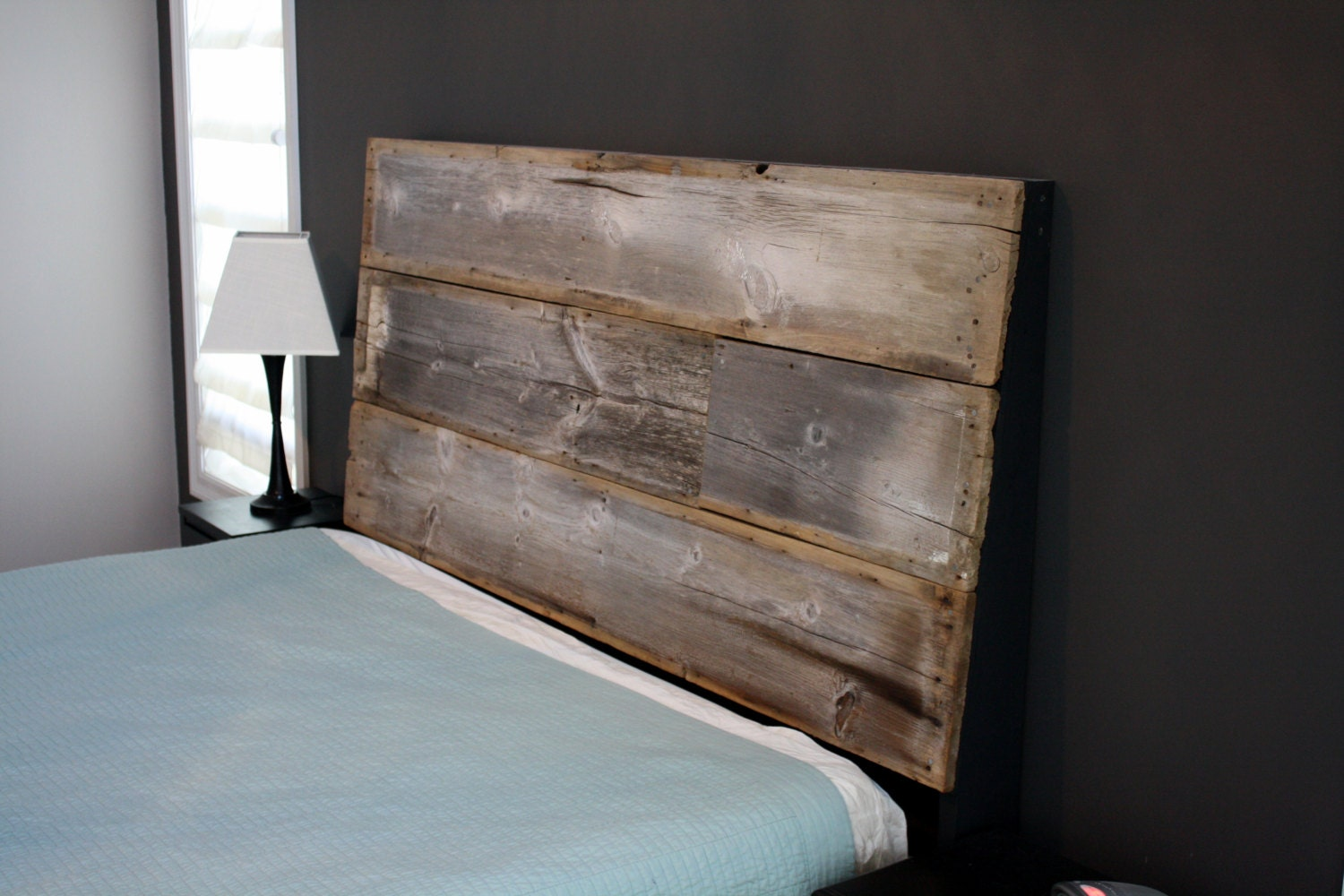 Reclaimed Wood Headboard The Image Kid