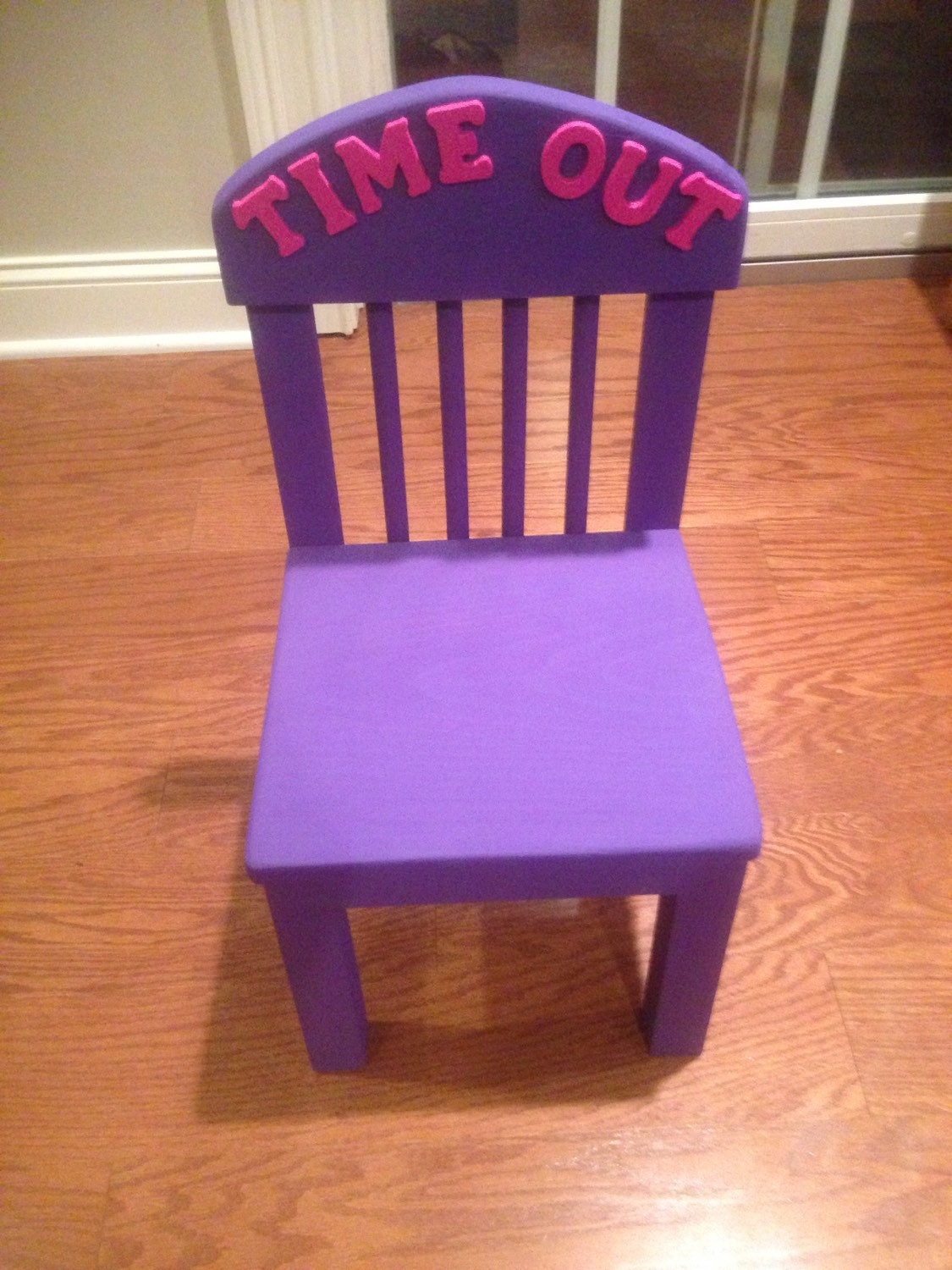Time Out Chair With Timer Purple With Pink Letters