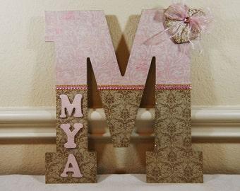 Custom Nursery Decor, Nursery Art, Baby Nursery Decor, Custom Wood Letters, Baby Girl Nursery Decor, Custom Monogram Letters, Monogram Art