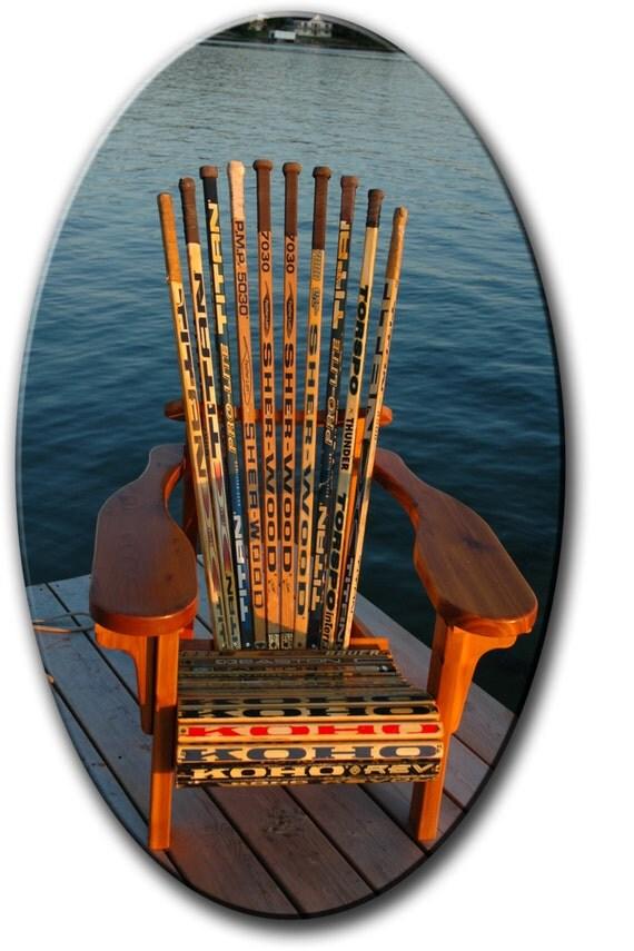 MC3 Muskoka Adirondack Hockey Stick Chair Plans amp Full Size