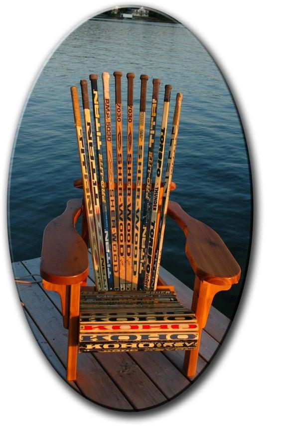 Mc3 muskoka adirondack hockey stick chair plans full size for Stick furniture plans