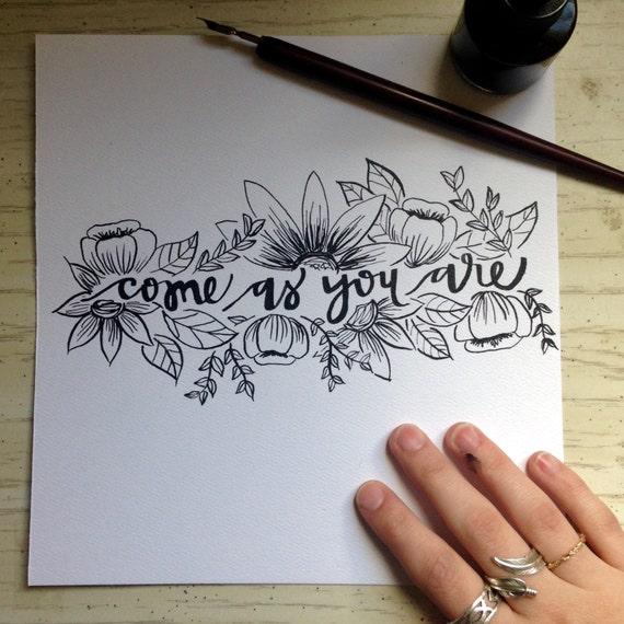 Items similar to hand lettering original scripture art