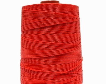 11 Yards 1mm Red Waxed Cord - Cotton Waxed Cord