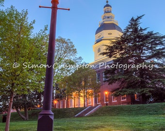Maryland State House - Annapolis - Maryland - Cityscape - Fine Art Print